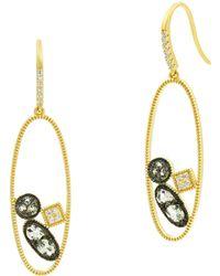 Freida Rothman - Rose Dor Open Drop Earrings - Lyst