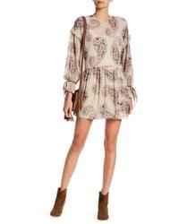 Blush Noir - Paisley Print Ruffle Dress - Lyst