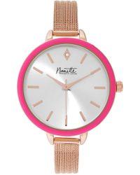 Nanette Nanette Lepore - Women's Two-tone Stone Bracelet Watch - Lyst