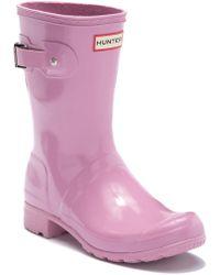 HUNTER - Original Tour Short Gloss Boot - Lyst