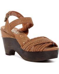9675463c99cf Naughty Monkey - Calla Leather Platform Sandal - Lyst