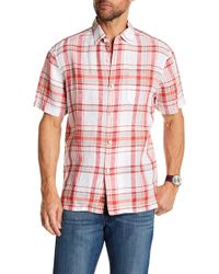 Tommy Bahama - Plaid-o-matic Short Sleeve Linen Print Shirt - Lyst