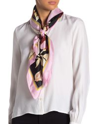 Vince Camuto - Illustrated Floral Silk Scarf - Lyst