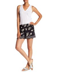Angie - Floral Polka Dot Scallop Shorts - Lyst