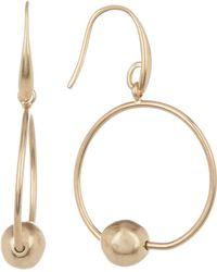 The Sak - Beaded Hoop Dangle Earrings - Lyst