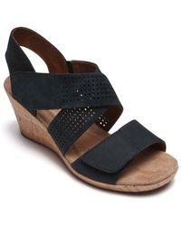 Cobb Hill - Janna Cross Strap Wedge Sandal (women) - Lyst