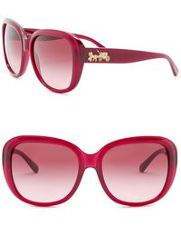 COACH - 57mm Square Sunglasses - Lyst