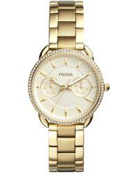 Fossil - Women's Gold Bracelet Watch, 35mm - Lyst