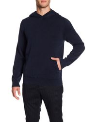 Vince - Long Sleeve Knit Hoodie - Lyst