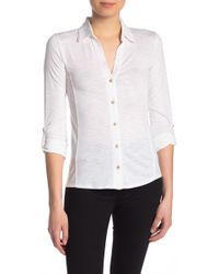 b23cdda83 C&C California - Contrast Inset Button Down Shirt - Lyst
