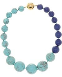 Trina Turk - Large Two-tone Graduated Bead Necklace - Lyst