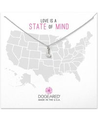 Dogeared - Sterling Silver Delaware Necklace - Lyst