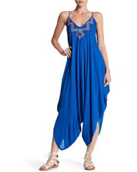 Love Stitch - Embroidered Harem Jumpsuit - Lyst