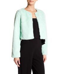 Do+Be Collection - Faux Fur Cropped Jacket - Lyst