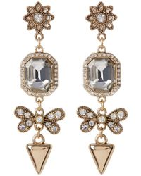 ABS By Allen Schwartz - Linear Embellished Drop Earrings - Lyst