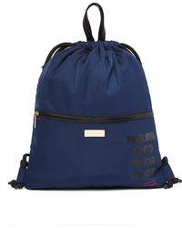 Peace Love World - Nylon Drawstring Backpack - Lyst