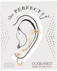 Dogeared - 14k Gold Vermeil The Perfect Ear Trio - 3-piece Set - Lyst