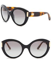 c8c942f068b16 Lyst - Versace Women s Mirrored Aviator Sunglasses in Metallic