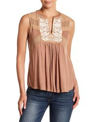 Lucky Brand - Embroidered Tank - Lyst