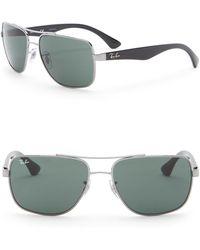 733b9e1574 Lyst - Ray-Ban Men s Navigator Metal Frame Sunglasses in Gray for Men