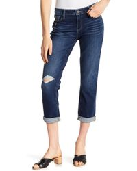 PAIGE - Brigette Folded Cuff Straight Leg Jeans - Lyst