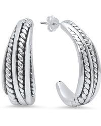 Sevil Jewelry - Sterling Silver Small Hoop Earrings - Lyst