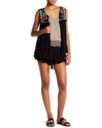Romeo and Juliet Couture - Ruffled Embroidered Short - Lyst