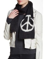 Wooden Ships - Peace Marled Heather Grey Snow Scarf - Lyst