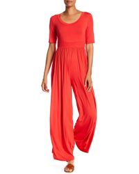 West Kei - Knit Wide Leg Jumpsuit - Lyst