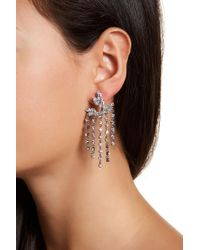 Jenny Packham - Crystal Cluster & Fringe Chandelier Jacket Earrings - Lyst