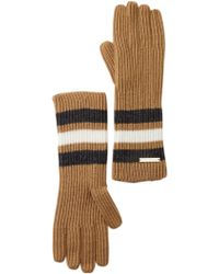 MICHAEL Michael Kors - Fisherman Rugby Colorblock Knit Gloves - Lyst