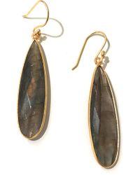 Charlene K - 14k Gold Plated Sterling Silver Labadorite Teardrop Earrings - Lyst
