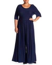 West Kei - Knit Wide Leg Jumpsuit (plus Size) - Lyst