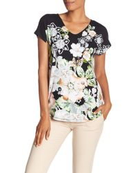 Catherine Malandrino - V-neck Printed Top - Lyst