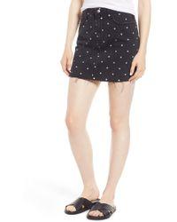 Current/Elliott - The Five-pocket Cutoff Denim Miniskirt - Lyst