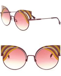 ec4d3361350 Fendi - 53mm Cutout Cat Eye Sunglasses - Lyst