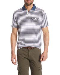 Michael Bastian - Short Sleeve Striped Polo - Lyst