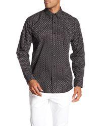 Theory - Geo Print Clasic Fit Long Sleeve Shirt - Lyst