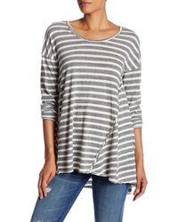 Sloane Rouge - Back Cutout Striped Tee - Lyst