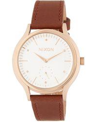 Nixon - Women's Sala Leather Strap Watch, 38mm - Lyst