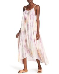 Boho Me - Scoop Neck Tie-dye Maxi Dress - Lyst