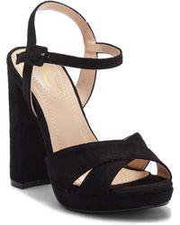 df72c681c3f Lyst - Elegant Footwear Alene Satin Ankle Strap Heel in Black