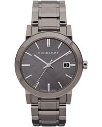 Burberry - Men's Check Stamped Bracelet Watch - Lyst