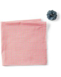 Original Penguin - Graebner Check Pocket Square & Lapel Pin Set - Lyst