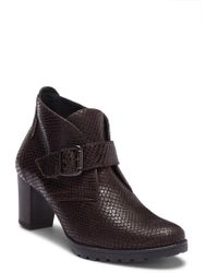 Mephisto - Jinny Snake Embossed Leather Bootie - Lyst