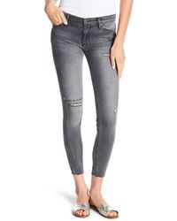 Black Orchid - Noah Ankle Fray Jeans - Lyst