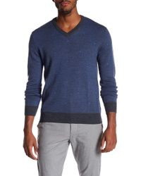 RAFFI - Wool V-neck Pattern Sweater - Lyst