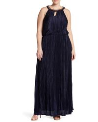 Chetta B - Embellished Keyhole Blouson Gown (plus Size Available) - Lyst