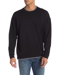 Calvin Klein - Boxy Piped Crew Neck Sweater - Lyst