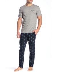 Lucky Brand - Short Sleeve Jersey Tee & Sleepwear Jersey Pants Gift Set - Lyst